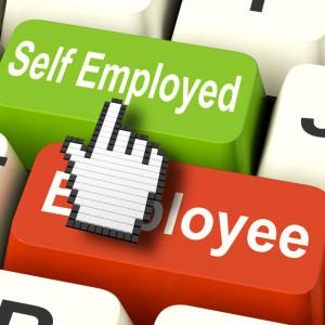 self employed button